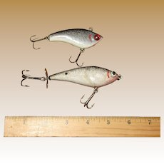 Vintage Hand Carved & Painted Wood Fishing Lures by Danny Chebra