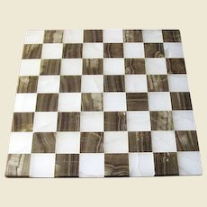 """Hand Made Marble Chess Board, 14"""" x 14"""""""