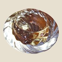 Beautiful Small Crystal Bowl by Royal Copenhagen of Denmark