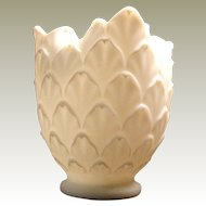 Early Satinised Opaline Glass Vase