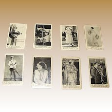 13 - Silent Movie Actor / Actress Trading Cards produced by American Caramel Company