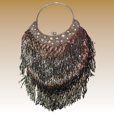Hand Beaded Flapper Style Vintage Evening Purse, Sophisticated!