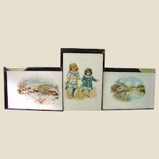 3 Antique Lancaster PA. Hill Dental Co. Victorian Trade Cards, Advertising, Mint!