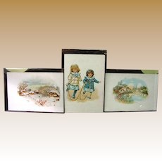 Lot of 3 Antique Lancaster PA. Hill Dental Co. Victorian Trade Cards. Mint!