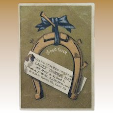 Victorian Trade Card - Lancaster PA - Wm Loeb - Millinery, Fancy Goods and Notions