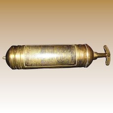 1930's, Pyrene Brass Fire Extinguisher Heavy Vehicle Type