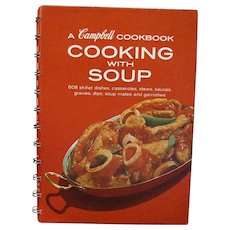 A Campbell Cookbook Cooking with Soup, Copyright 1950's, Thirteenth Printing Revised March, 1976
