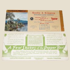 Two Large Trade Cards dated 1940 & 1949