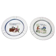 Pair 1950's, Ashtray's. Risqué Naughty Saying, Made in Japan