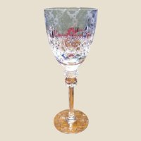 Rogaska Gallia Tall Stem Lead Crystal Water Goblet (up to 8 available)