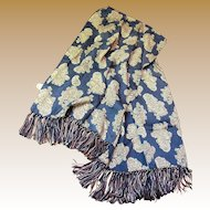 1950's Rayon Paisley Fringed Scarf by Cisco