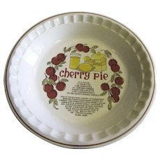 Country Style Pie Dish, Cherry Recipe