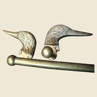 """Wonderful Cast Brass Duck Head 23"""" Towel Rail"""