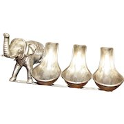 Unusual Silver Plated Pipe Stand with Beautiful Elephant Sculpture