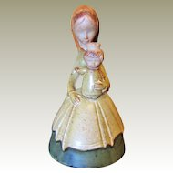 Unusual Art Pottery Madonna & Child Figurine