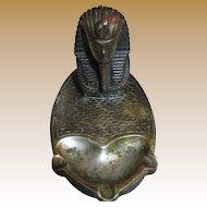 Egyptian Revival 1920's Art Deco King Tutankhamen Ashtray