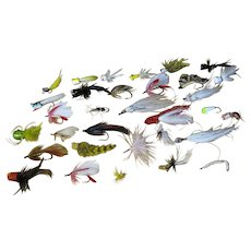 30+ Vintage Hand Tied Fly Fishing Dry Flies Lures Trout Estate Collection