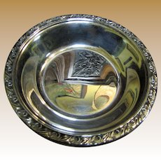 Reed & Barton Vintage Silver Plated Candy or Nut Dish, Classic Rose Design