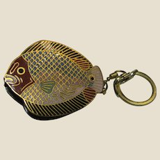 Vintage Closoinne Fish Design Key Ring with Magnifying Glass