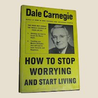How to Stop Worrying and Start Living by Dale Carnegie 1948 60th Printing HCDJ