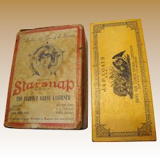 Art Deco Starsnap Dress Fastener Advertising Cardboard Box