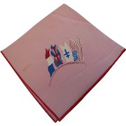 WW2 Victory Hankie with Allied Flags