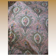 Delightful 4 Yd Remnant of Traditional Glazed Cotton Floral Chintz