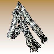 Scandinavian Over Stitched Woven Wool Reversible Belt