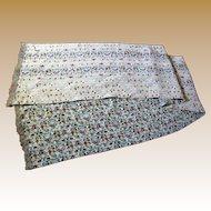 Reversible Vintage Silk Crepe Scarf, Pretty Fabrics!