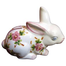 Vintage Andrea by Sadek Portuguese Hand Painted Bunny Bank