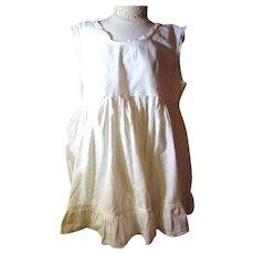 Great Little Childs Cotton Flounce Slip for Under Organdy Dresses