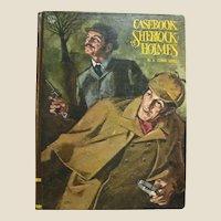 1968, Casebook of Sherlock Holmes by A. Conan Doyle, Educator Juvenile Classics, Illustrated