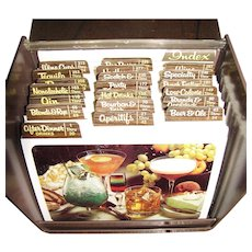 Random House 2 in 1 Int'l Recipe Card Collection Mixed Drinks Hors D'Oeuvre 1977, Cookbook