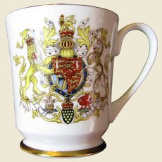 Vintage Aynsley Royal Commemorative Mug, 1969 Investiture of the Prince of Wales
