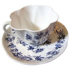 Shelley Meissenette French Flare Cup & Saucer Set