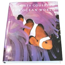 Jacques Cousteau : The Ocean World - Large Exploration Book, Like New!