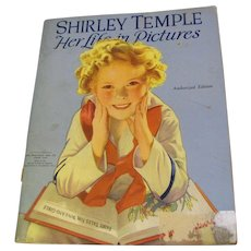 """Vintage Shirley Temple """"Her Life In Pictures"""" copyright 1938"""