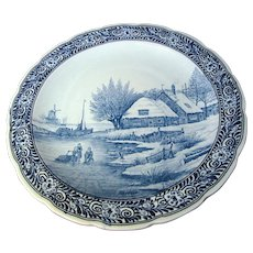 """16"""" Blue Delft Charger by Regout Royal Sphinx, Maastrich Holland"""