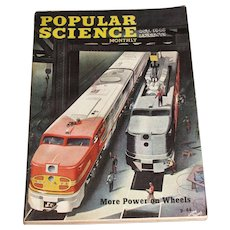 Oct 1946 Popular Science Magazine - More Power on Wheels - Rocket Camera To Shoot Sun -Talking Phone - Trains Push Button Parking