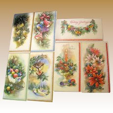 Seven 1950's Unused Coronation USA Made Christmas Cards, Beautiful!