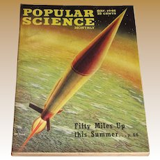 May 1946 Popular Science Magazine- Rocket Cover, XB-36 Cover Painting Ray Pioch Fifty Miles Up - Near Mint