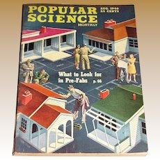 August 1946 Popular Science Magazine- 1947 Studebaker, Pre-Fabs, Puppet Factory, Culver Model V, Bikini A-Bomb Test