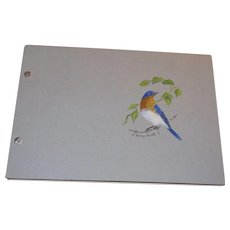 The Bluebird Sketchbook, A limited edition 188 of 250 by Georgia Kimble, hand water colored, signed and numbered by the artist, Blue Bird Sketch book