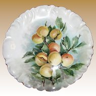 Beautiful Hand Painted Limoges Apricot Design Wall or Cabinet Plate