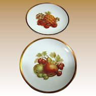 Pair of Bavaria Jaeger Golden Crown Harvest Pattern Plates