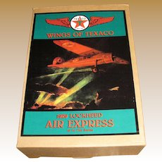Vintage Wings of Texaco 1929 Lockheed Air Express Plane Coin Bank, New in Box