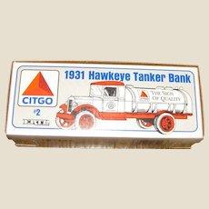 Vintage 1931 Hawkeye Tanker Bank, ERTL CITGO 1/34 2nd In Series, New in Box