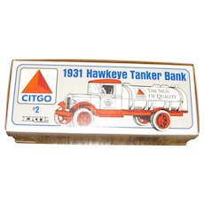 Vintage 1931 Hawkeye Tanker Bank, ERTL CITGO 1/34 2nd In Series, New in Box