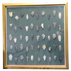 50 Lot Collection of Native American Indian Artifacts Arrowheads Collected from Ohio