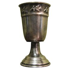 "Antique Silverplated Liquor Cordial Shot Measure 2 3/4"" Goblet"